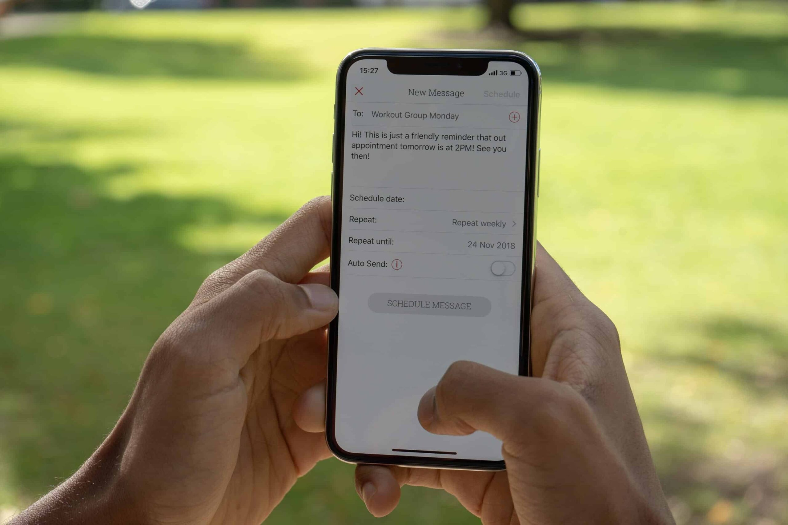 Reduce no-shows by sending text message reminders